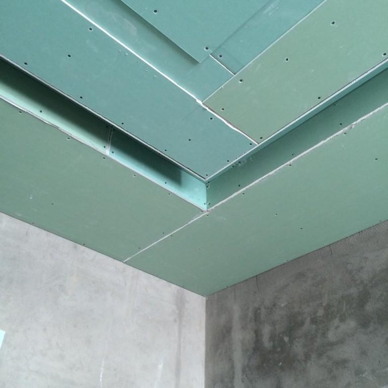гипсокартон в два слоя потолок схема фото дыхание вызывается