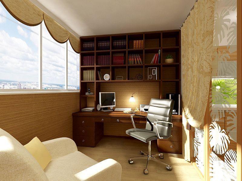 Лайфхак от рдс-строй: превращаем балкон в рабочий кабинет.